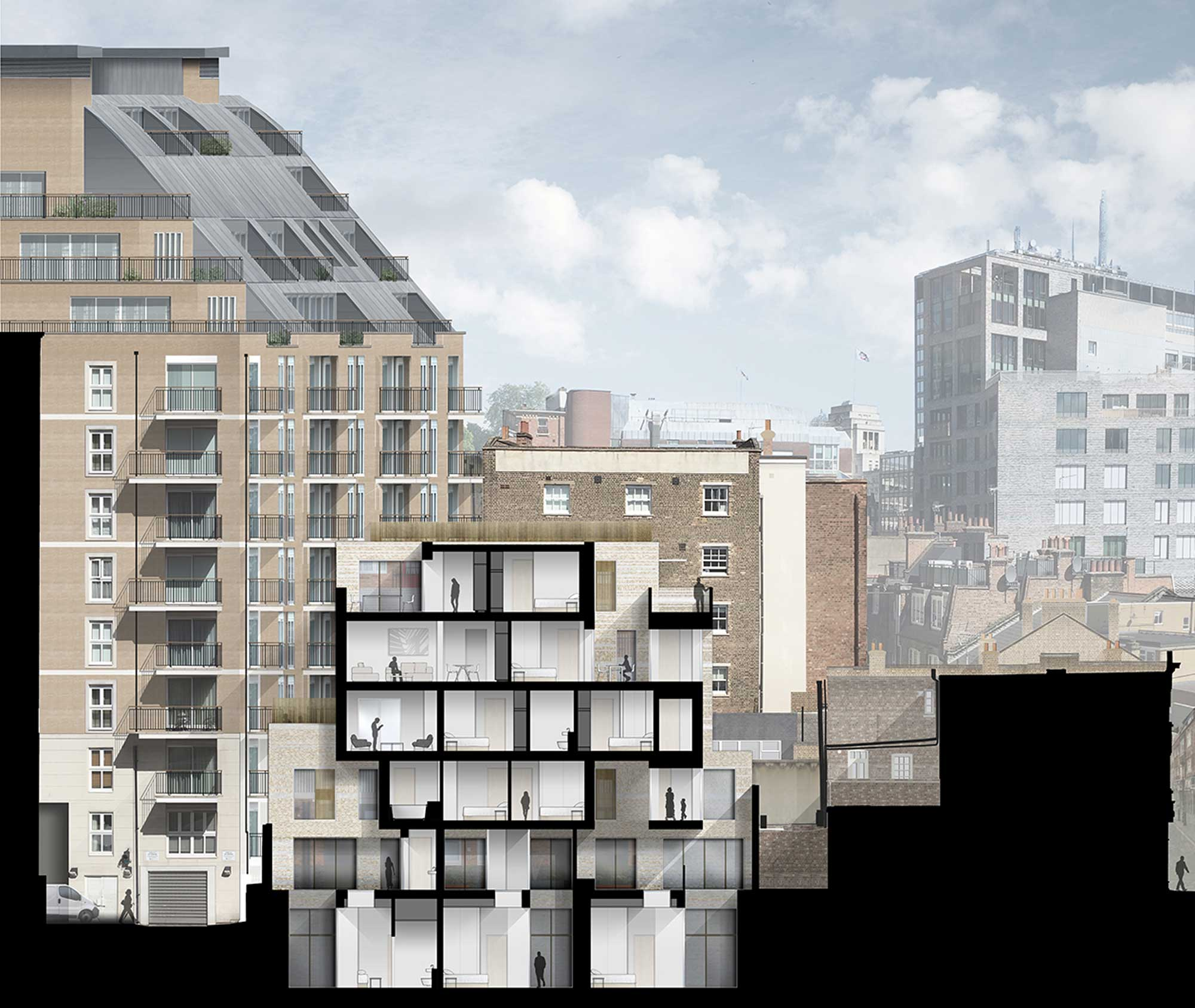 westminster-fire-station-openstudio-architects-section